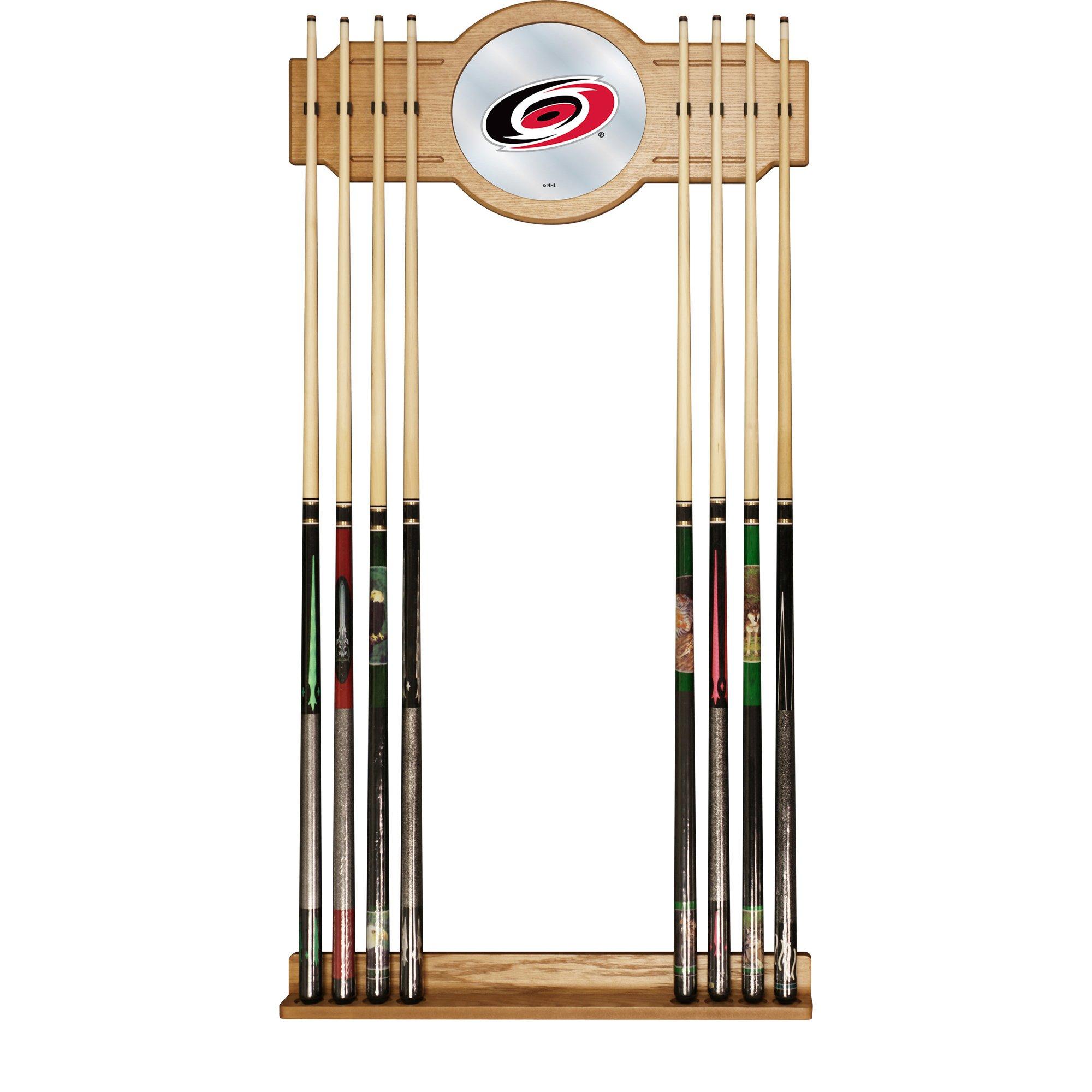 Trademark Gameroom NHL Carolina Hurricanes Cue Rack with Mirror
