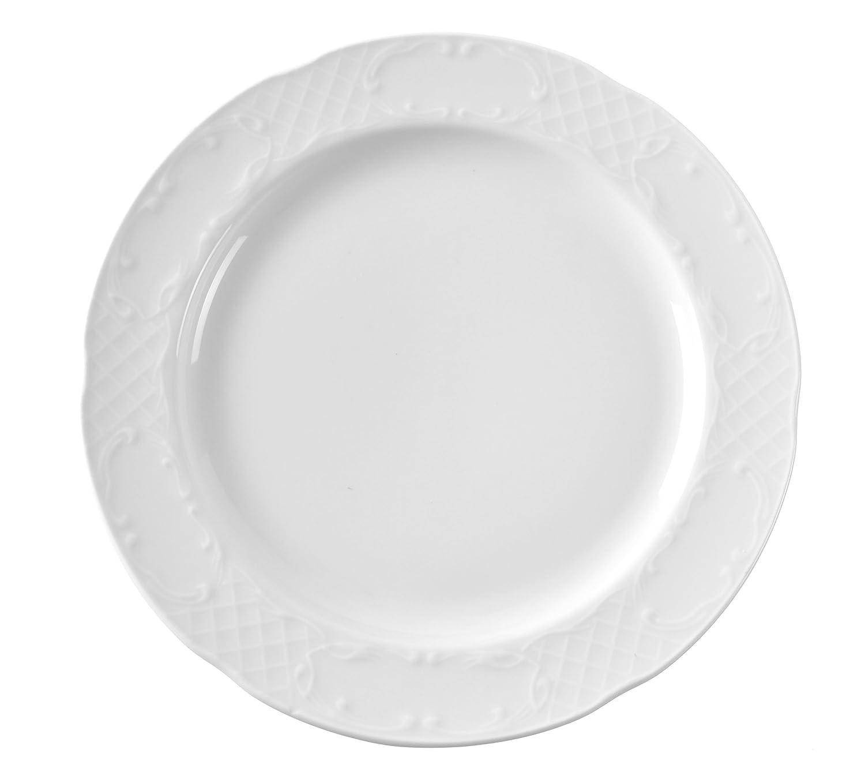 Hendi 787021 Flora Teller Flach, Weiß