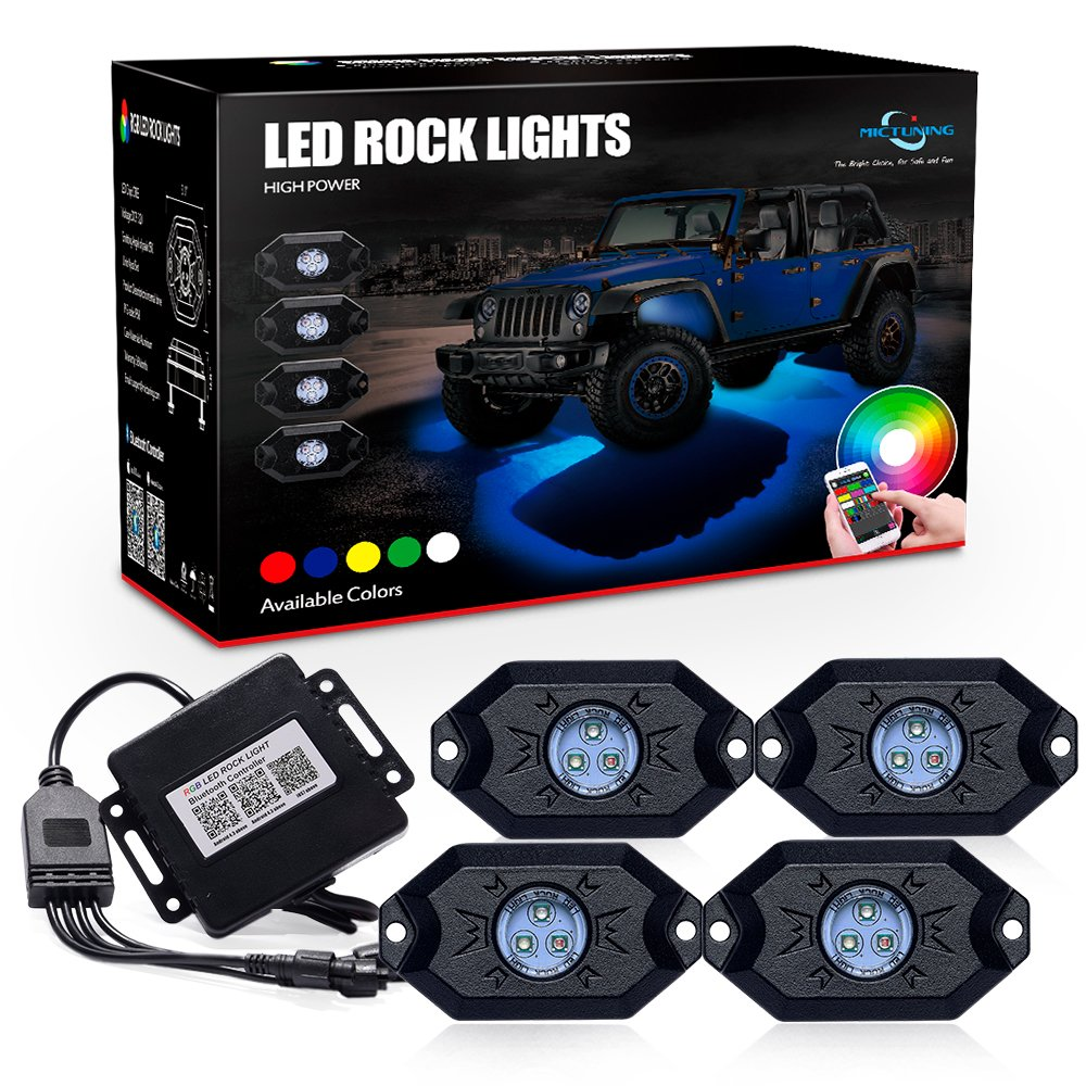 12v Led Rock Light Wiring Diagram Libraries For Rgb Amazon Com Mictuning 2nd Gen Lights With Bluetoothamazon Bluetooth Controller Timing Function
