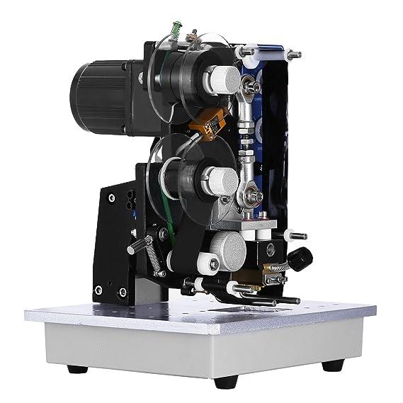 Amazon.com: Happybuy Electric Hot Stamp Printer Coding Machine 200W Semi- Automatic Electric Color Ribbon Coding Date Printer Hot Stamp Printer Machinefor ...