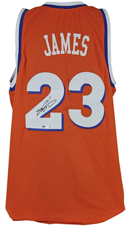 e6ac45753 Signed LeBron James Jersey - Orange Throwback  SHO45767 - Upper Deck  Certified - Autographed NBA