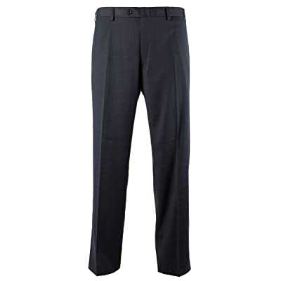 Ralph Lauren Men's Comfort Flex Flat Front Dress Pants-N-40WX29L Navy at Men's Clothing store
