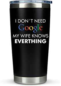 Gifts for Husband from Wife Valentines - 20oz Travel Coffee Tumbler/Mug