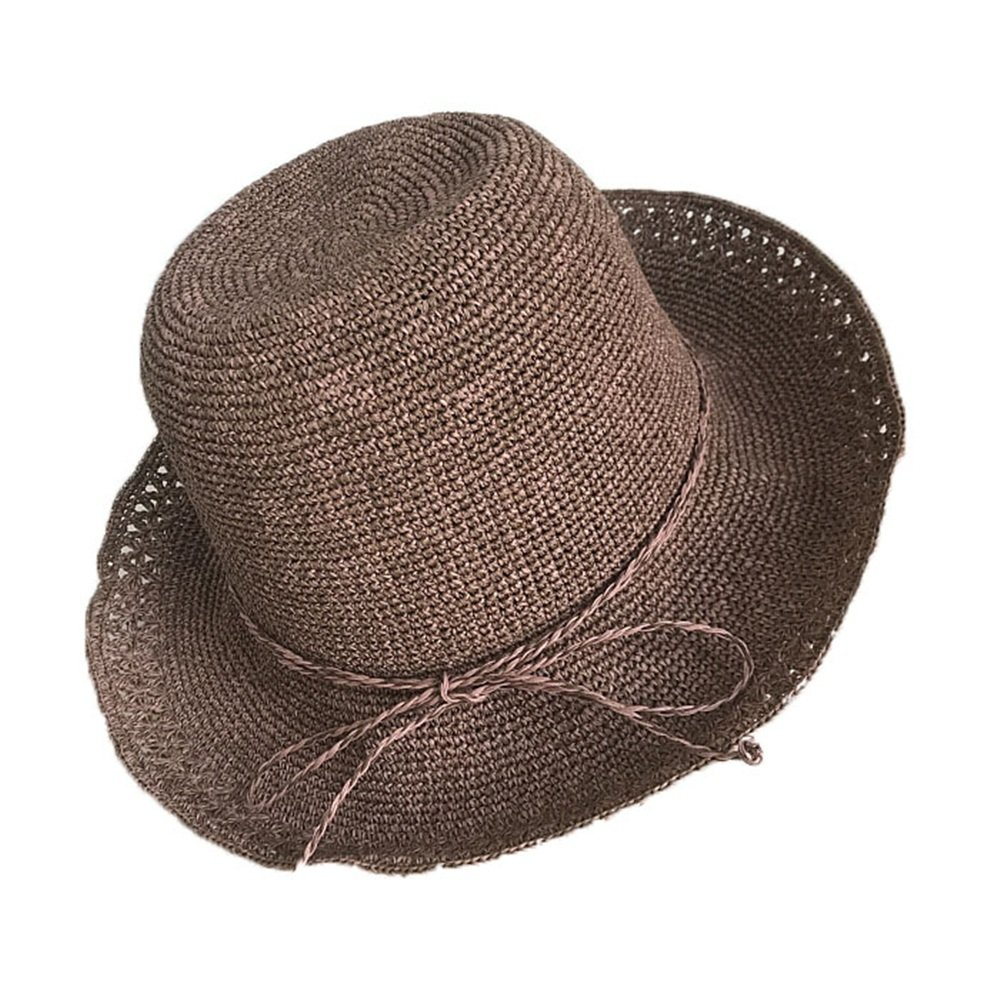 Shuo lan hu wai Damenhut Doppel Farbe Hand gehäkelt Lady Fan Spitze Hut kann in der Sonnenblende Hut gefaltet Werden
