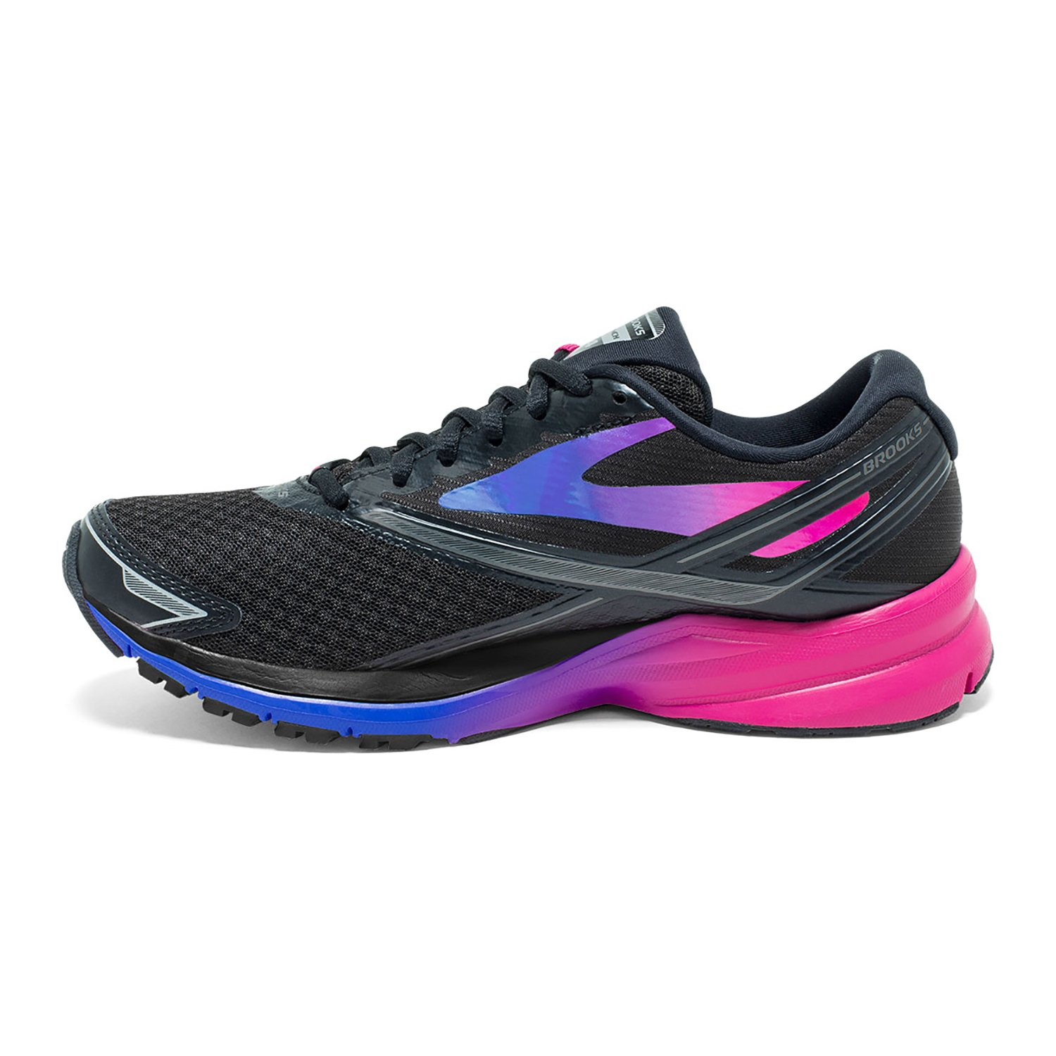 Brooks Womens Launch 4 B01GEZUF5Y 6 B(M) US|Black/Fuchsia Purple/Dazzling Blue