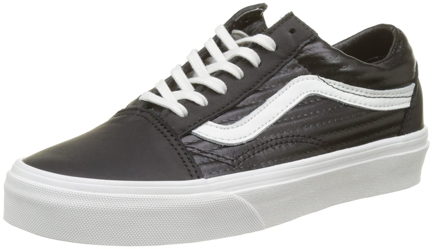 Vans Unisex Old Skool Classic Skate Shoes B01N5EPXF0 11 B(M) US Women / 9.5 D(M) US Men|Black/Blanc De Blanc