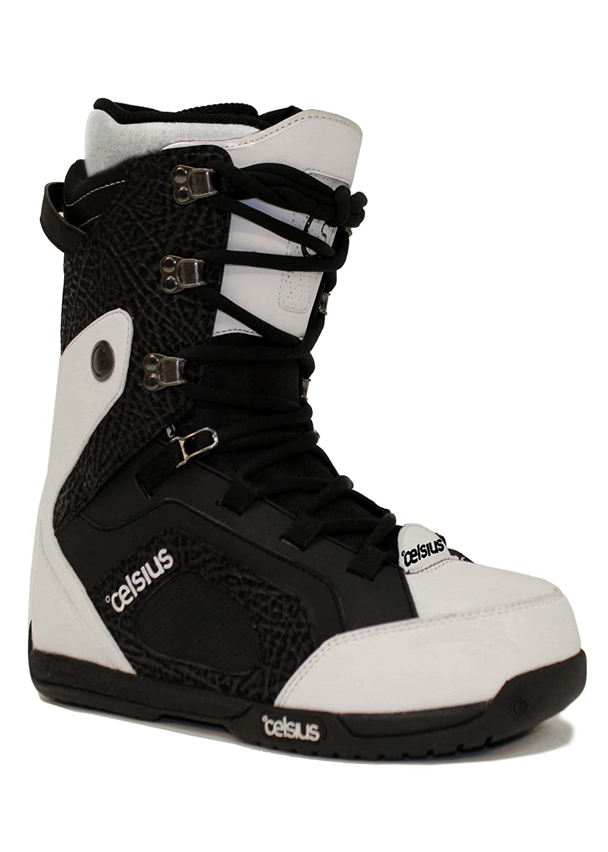 973a97e7441f Celsius cirrus mens snowboard boots mid stiff trad lace black white sports  outdoors jpg 1071x1500 Custom