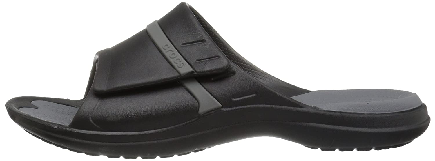 Crocs Unisex Modi Sport Slide B01H87WBZE 9 US Men / 11 US Women|Black/Graphite