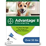Advantage II Flea and Lice Treatment for Extra Large Dogs, Flea and Lice Treatment for Dogs Over 55 Pounds