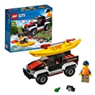 LEGO 60240 City Great Vehicles Kayak Adventure Boat and Truck Toys with Explorer Minifigure, Holiday Sets for Kids