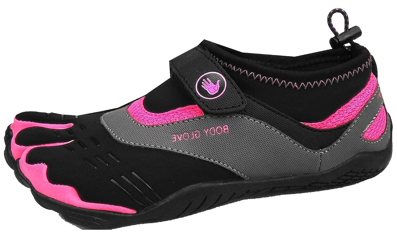 Body Glove Women's Max Trail Running Shoe B071WKS65J 8 B(M) US|Black/Neon Pink