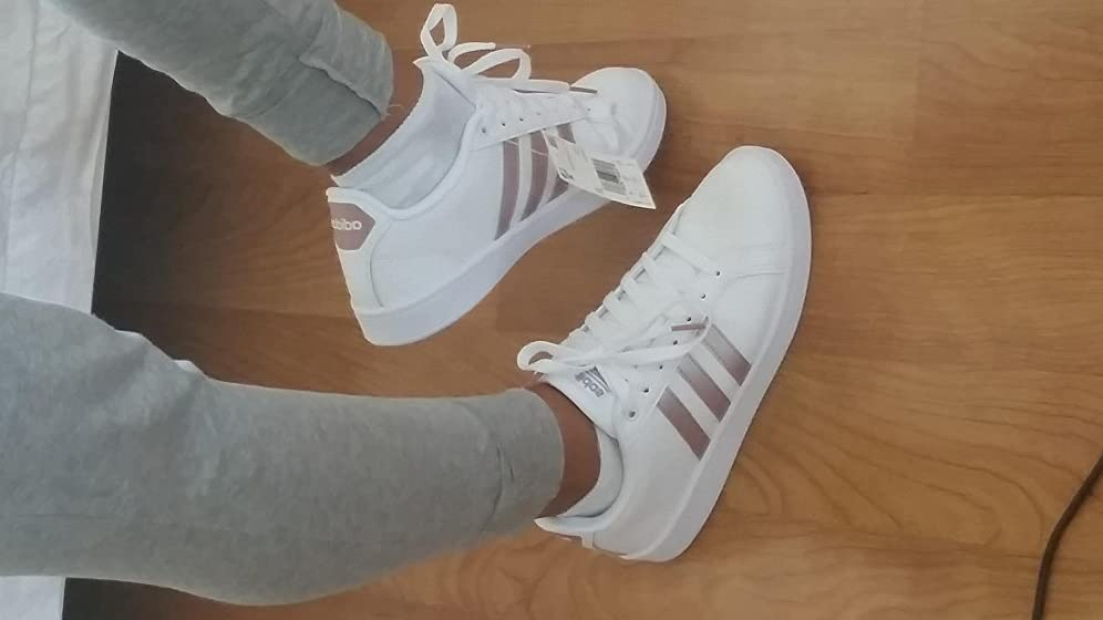 adidas Women's Cloudfoam Advantage Cl Sneaker I absolutely love them. Size fits right