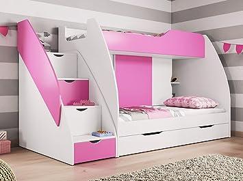 Etagenbett Set : Kinder etagenbett set martin. express lieferung erhältlich in rosa