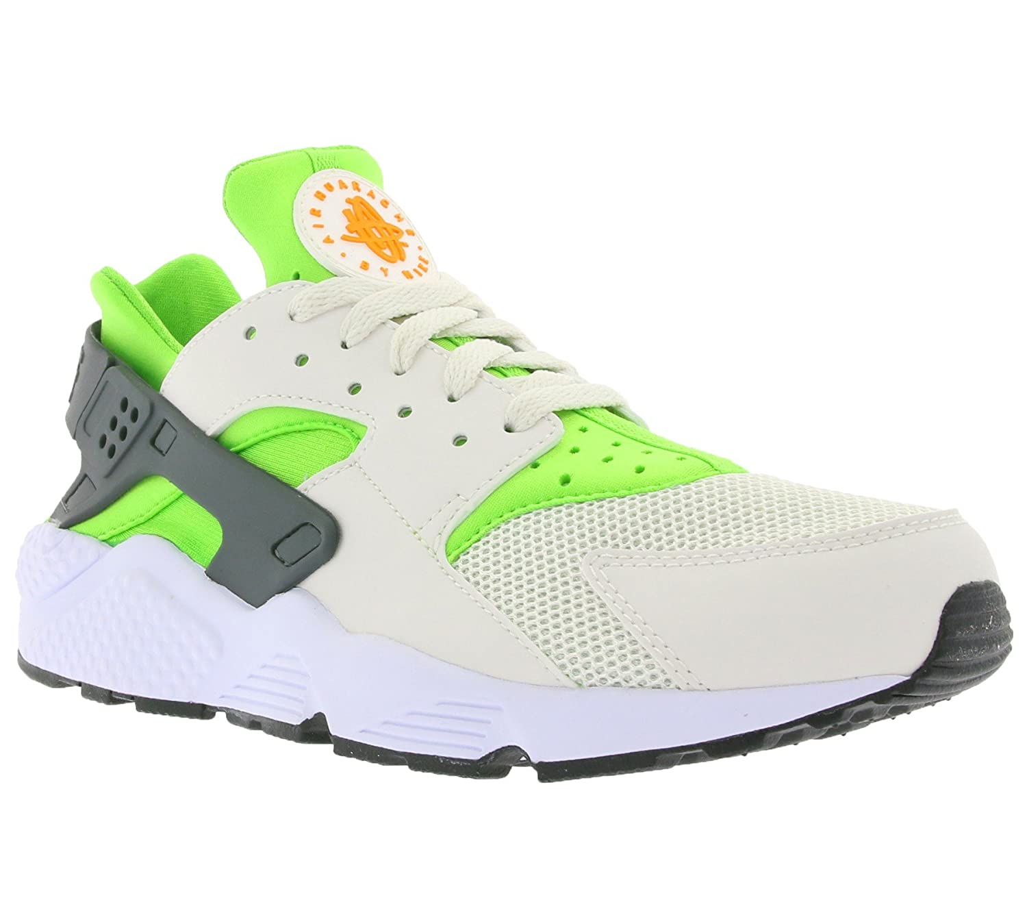 Nike AIR Huarache Mens Running-Shoes 318429-304_10.5 – Action Green Vivid Orange-Phantom-White