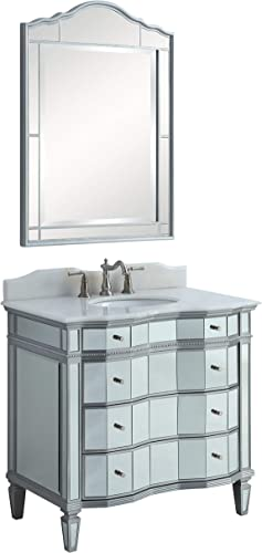 36 Benton Collection Mirror Reflection Ashley Bathroom Sink Vanity Mirror Included – Model BWV-025 36-FWM-015-2940MIR