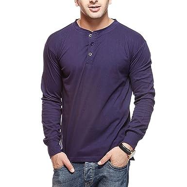 GRITSTONES Men's Plain Slim Fit T-Shirt Men's T-Shirts at amazon