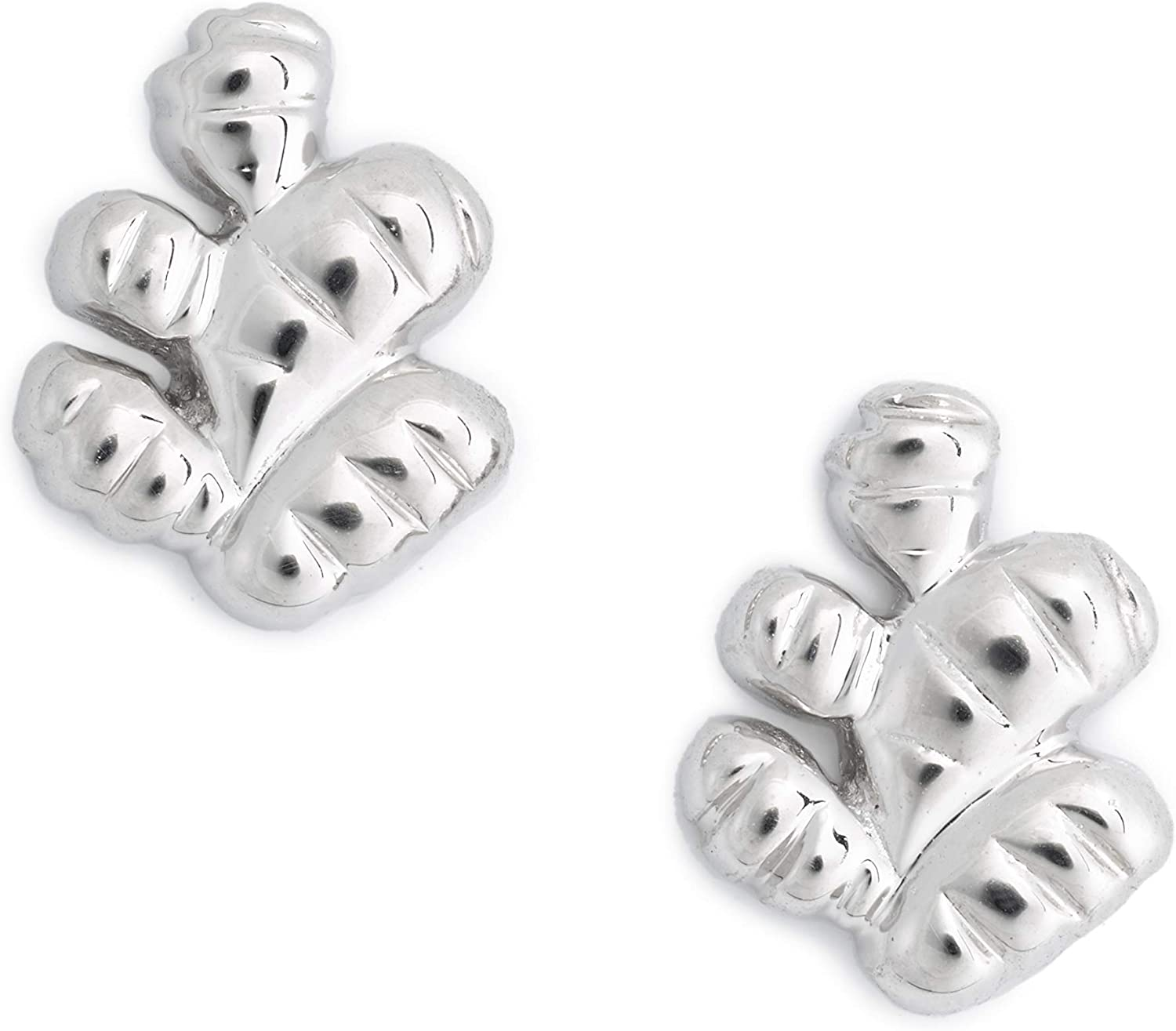 Delicacies Ginger Sterling Silver Stud Earrings, Food Jewelry for Food Lovers, Chefs, Cooks and Epicureans