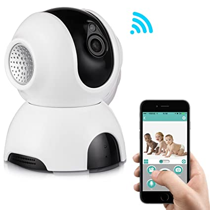 Rukerway Wireless IP Camera, Baby Monitor Pan/Tilt Two-Way Audio 720P with  Night Vision, Motion Detection Alert, Home Security Surveillance Camera
