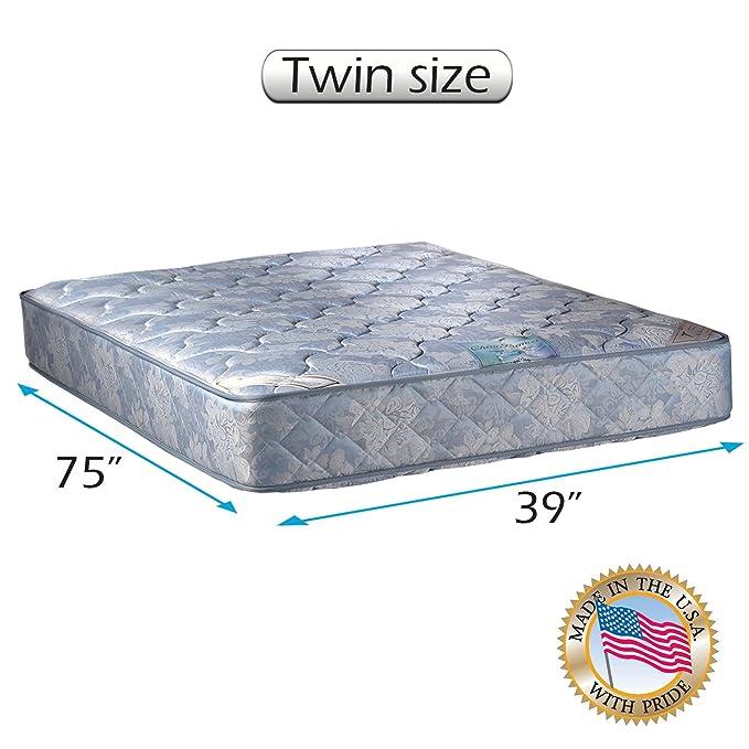 Dream Solutions USA Chiro Premier colchón ortopédico (Color Azul) de Dos Caras Solo con Protector de colchón Incluido - Totalmente montado, ...