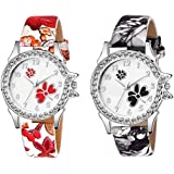 Spanking Analogue Multicolour Dial Girl's and Women's Watch -Combo of 2
