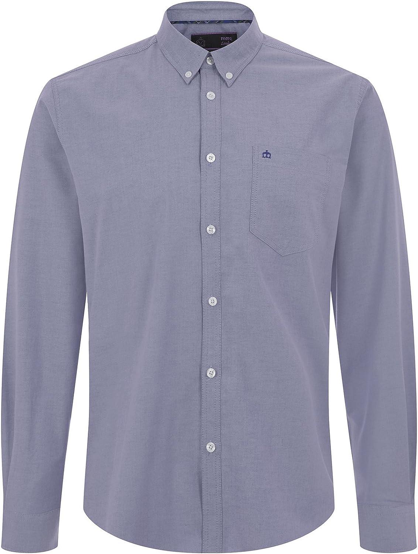 Merc Camisa Oval para Hombre Azul Oxford de Manga Larga: Amazon.es: Ropa y accesorios