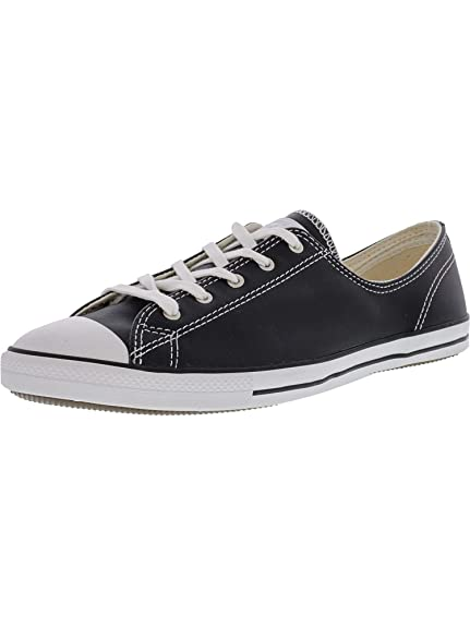 0cf6dbb2a92 Converse Womens As Dainty Femme Leather OX Trainers  Amazon.co.uk ...