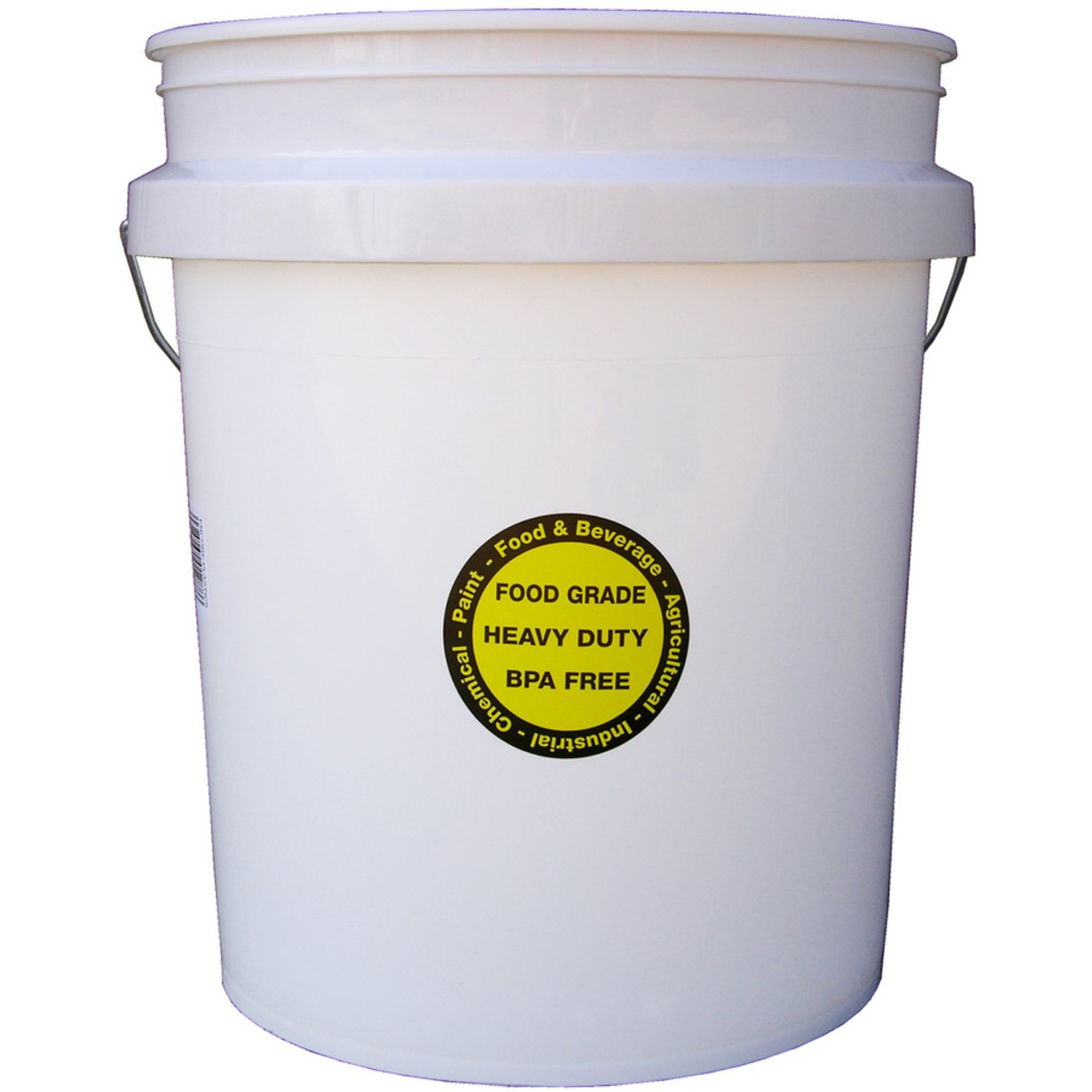 Encore Plastics 5-Gallon Commercial Food Grade Bucket FDA approved Pail Used for Paints Coatings Varnishes Water Sealants Concrete Patching Compounds Asphalt Coatings Soaps Detergents by Encore