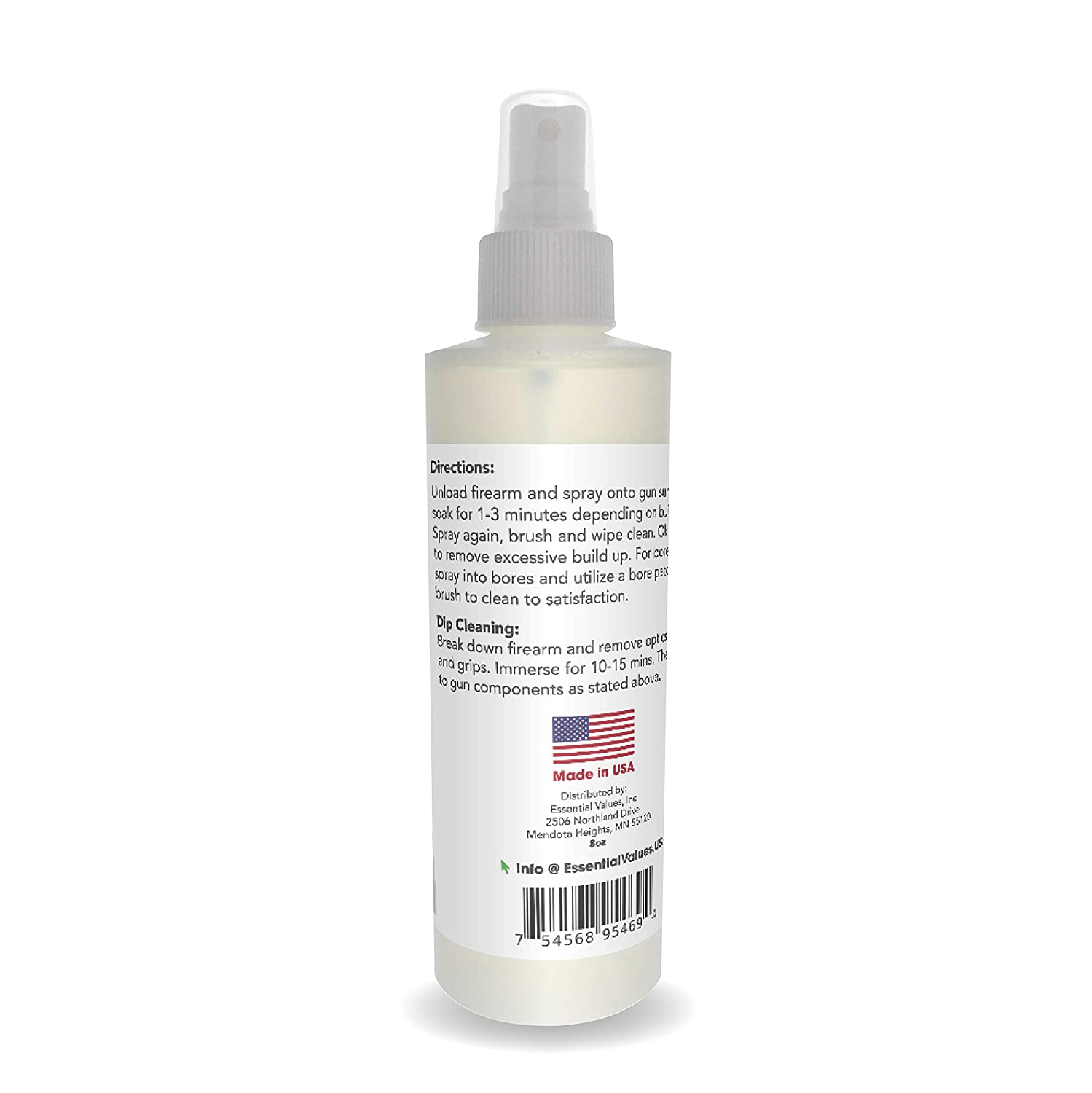 Essential Values Gun Cleaner Spray, (8oz) Best Used for Carbon, Lead &  Copper Removal in Handguns, Rifles & Shotguns (Comparable to Hoppe's Elite  &