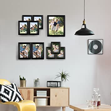 Amazoncom Woltu 10 Piece Picture Frame Set Gallery Multi Size
