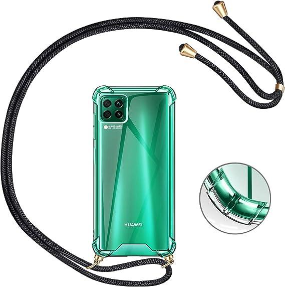 Funda con Cuerda para Huawei P40 Lite,Moda y Practico Carcasa Gel de s/ílice TPU Case Cover con Colgante//Cadena.