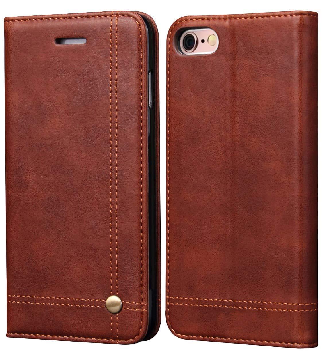 SINIANL iPhone 6S Plus Case iPhone 6 Plus Case, Leather Wallet Case Magnetic Closure with Kikstand & Card Slot Flip Cover for iPhone 6 Plus / 6S Plus