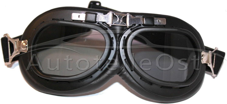 VEB Standard ATO-Moto Casque de moto r/étro Oldtimer demi-coque avec lunettes Blanc Taille S M L XL