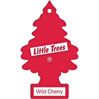 LITTLE TREES Car Air Freshener | Hanging Paper Tree for Home or Car | Wild Cherry | Single Tree per Package