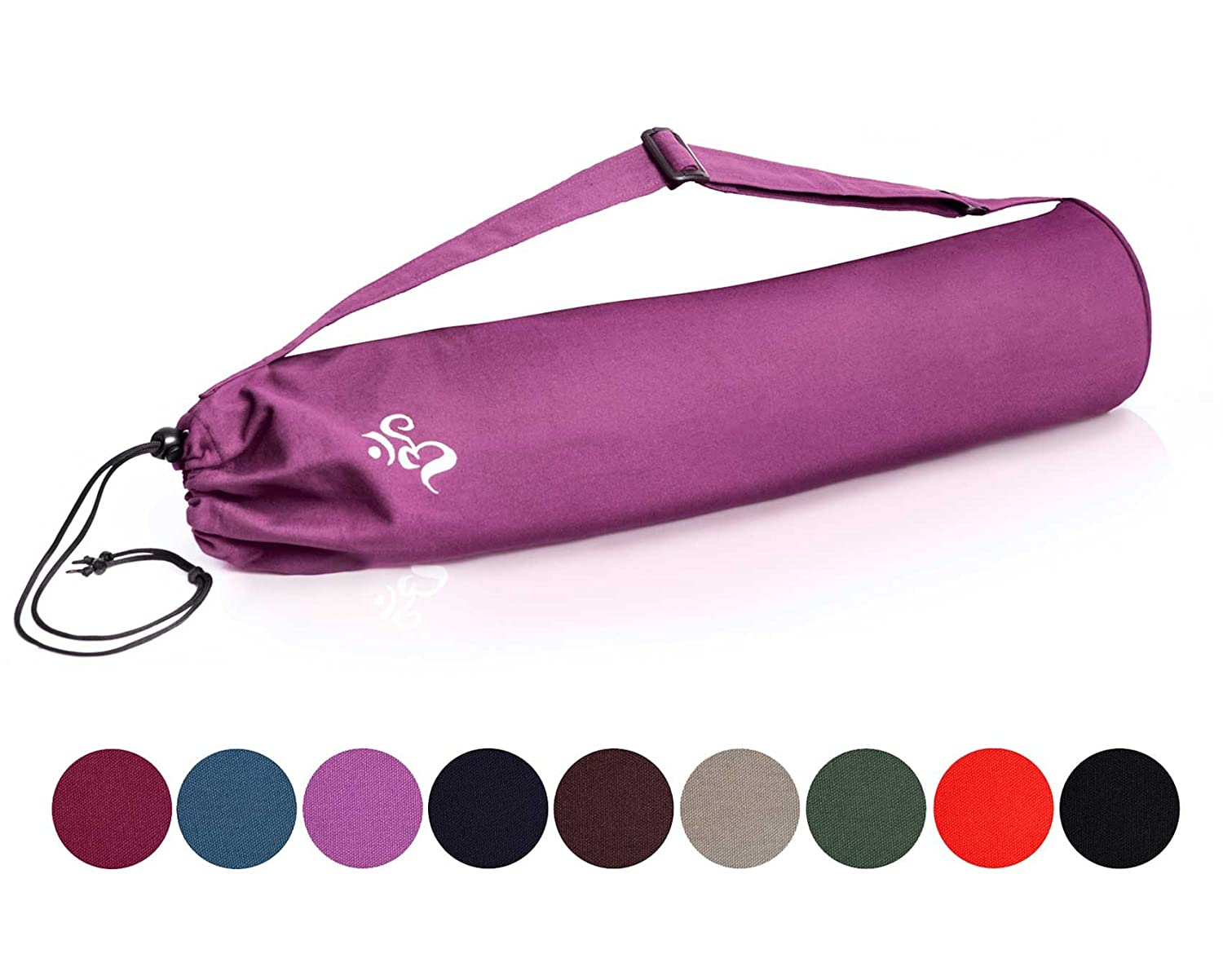 #DoYourYoga Yoga mat bag »Devala« from 100% cotton - Additional Storage Pocket - Machine washable - Suitable for all yoga mats up to the size of 180 cm x 62 cm x 0,6 cm - available in many colours #DoYourSports