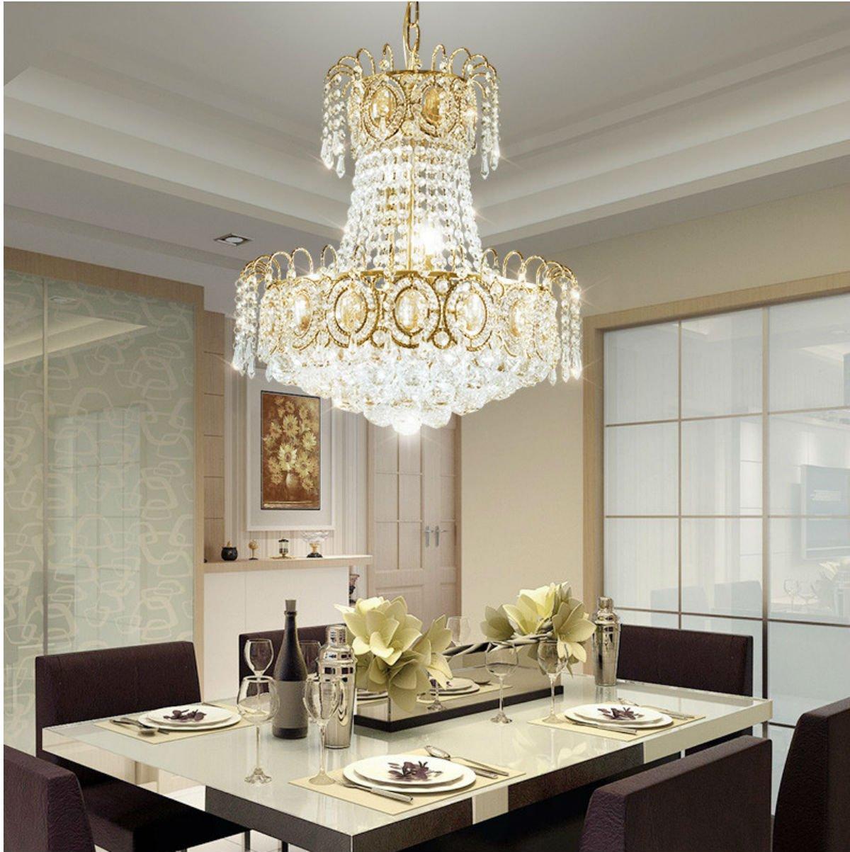 CRAVOG Moderne LED Kronleuchter Gold Kristall Kronleuchter Für Esszimmer  Decke Hängen Lampen Für Hauptdekoration 45 Cm Bestellen
