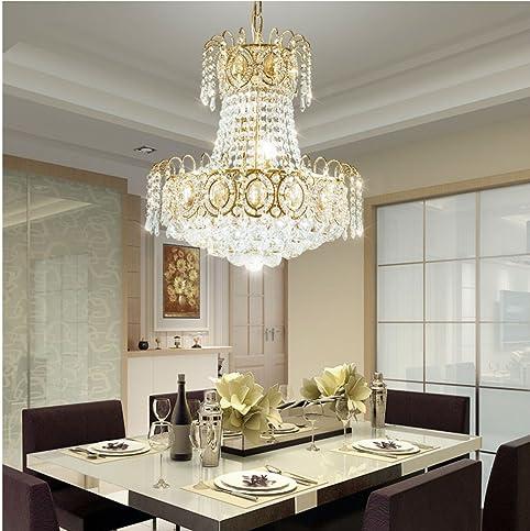Marvelous CRAVOG Moderne LED Kronleuchter Gold Kristall Kronleuchter Für Esszimmer  Decke Hängen Lampen Für Hauptdekoration 45 Cm