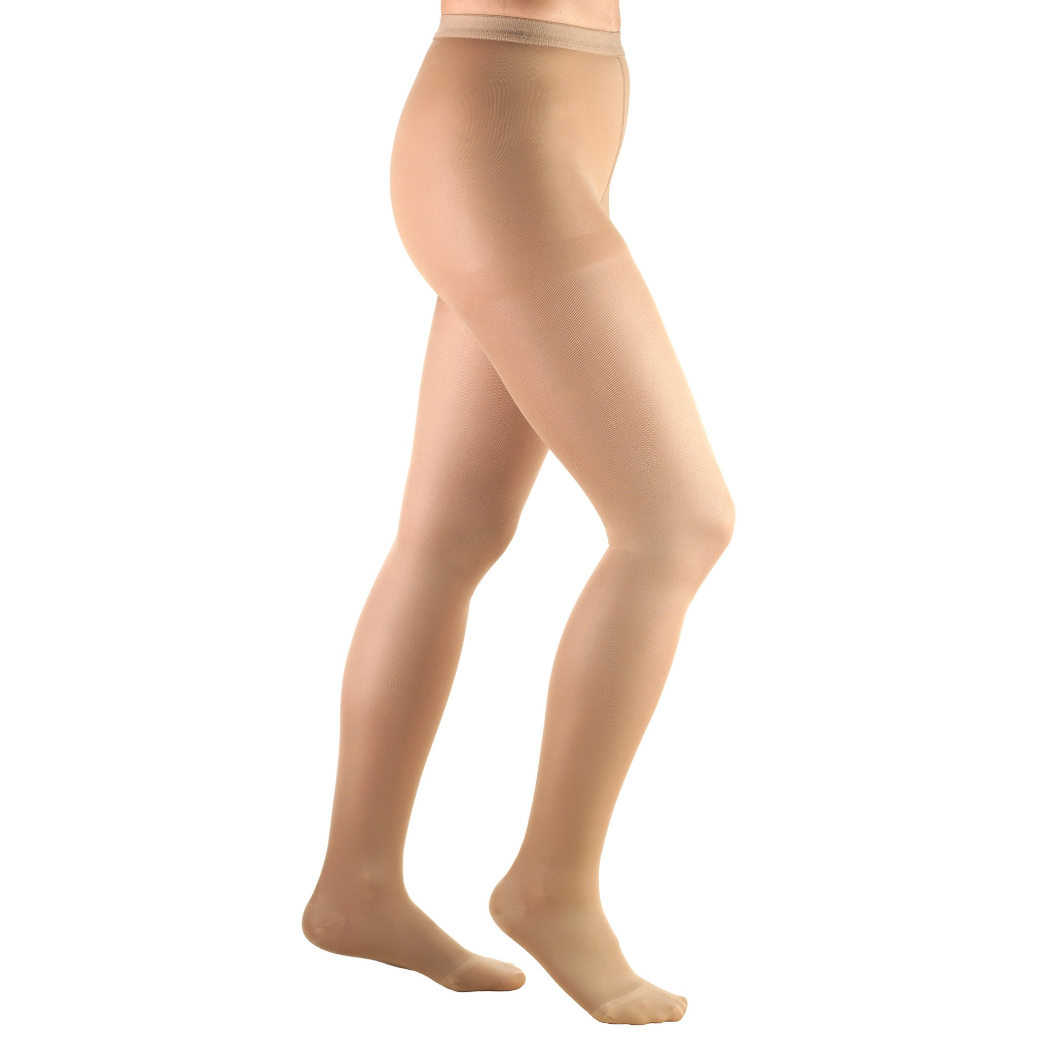Truform Women's 20-30 mmHg Compression Pantyhose, Beige, Large