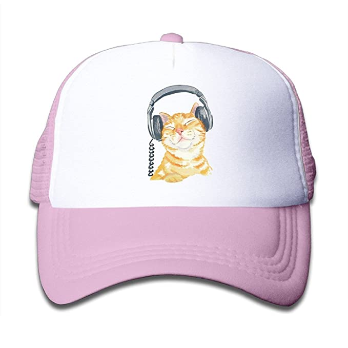 Image Unavailable. Image not available for. Color  Kids Orange Tabby Cat  Trucker Mesh Baseball Cap Hat ... 9ecbf7457a20
