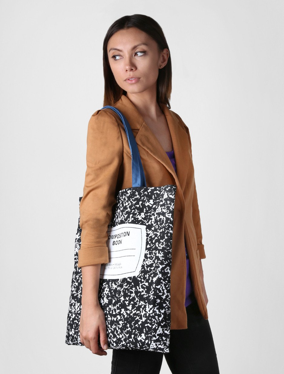 Out of Print Composition Notebook Tote Bag, 15 X 17 Inches by Out of Print (Image #3)