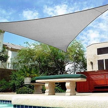 Vela De Sombra, Vela De Sombra triángulo, Protección Rayos UV, Toldo Resistente Transpirable, para Patio, Exteriores, Jardín, 3.6 x 3.6 x 3.6 m Color Gris: Amazon.es: Deportes y aire libre
