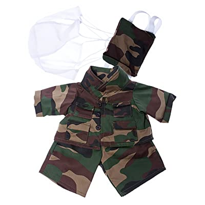 "Special Forces Outfit with Badge Fits Most 8""-10"" Webkinz, Shining Star and 8""-10"" Make Your Own Stuffed Animals and: Toys & Games"