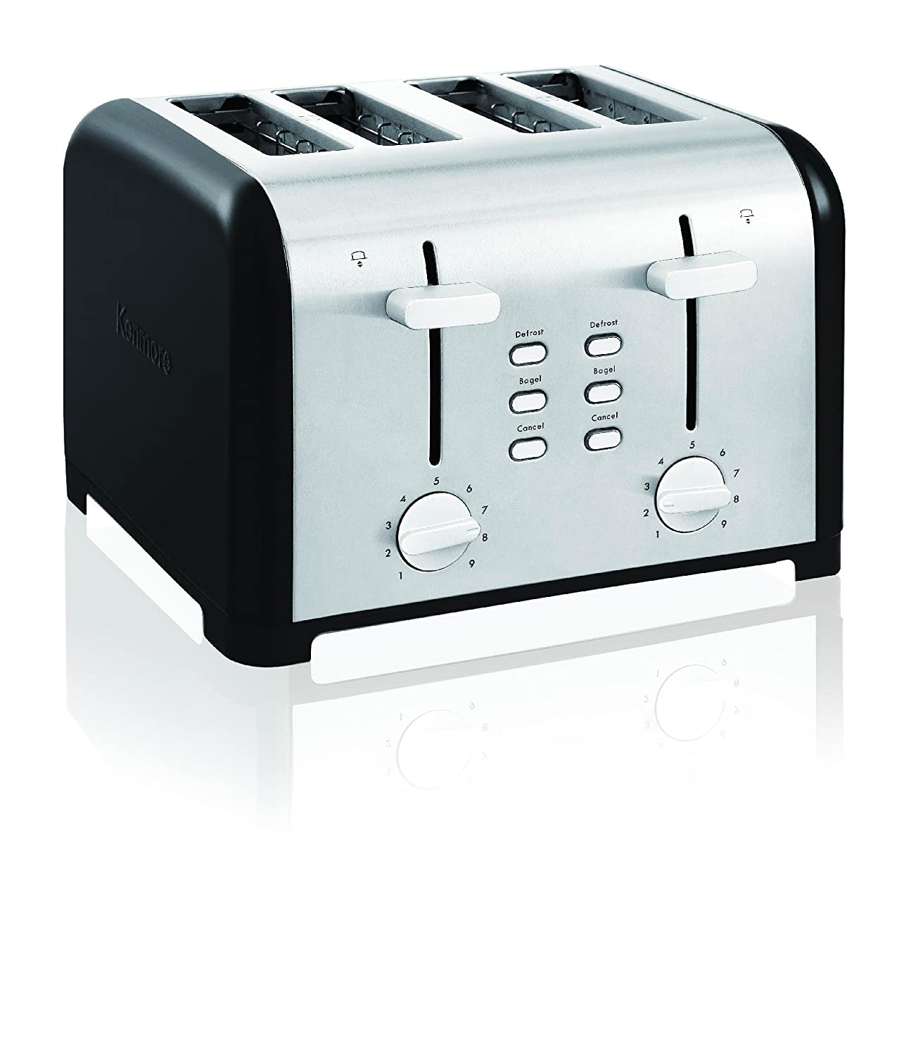 Kenmore 40603 4-Slice Toaster with Dual Controls in Black