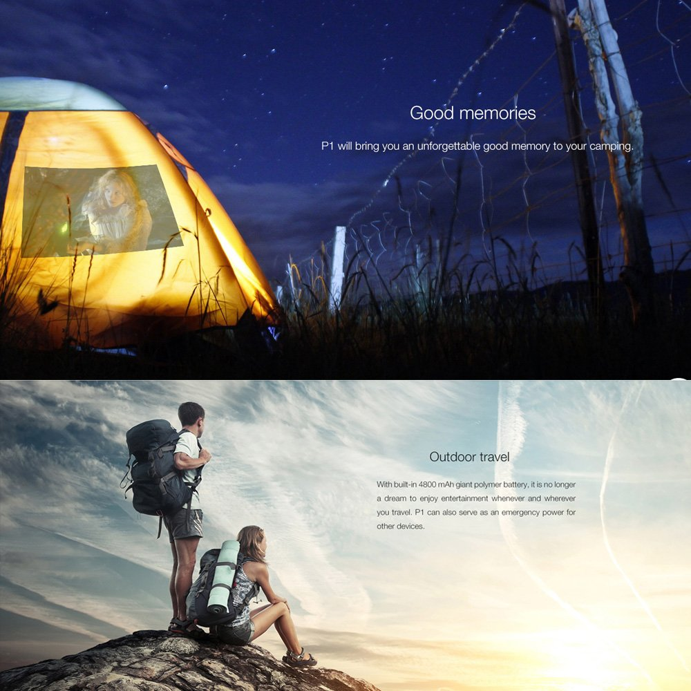 DOOGEE Cube P1 - Inteligente Mini Proyector LED Android 4.4 ...