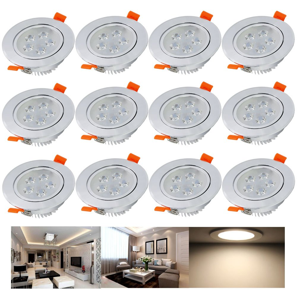 Hengda® 12 x 5W LED Warmweiß 2800-3200k LED Spot Decken ...