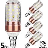 Gezee LED Ampoule de maïs E14 12W Candélabre ampoules 100W équivalent, 1200LM, Blanc Froid 6000K ampoules LED Lustre décoratifs, non dimmable, Lot de 5