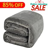 Amazon Price History for:Shilucheng Fleece Soft Warm Fuzzy Plush Lightweight Queen(90-Inch-by-90-Inch) Couch Bed Blanket, Grey