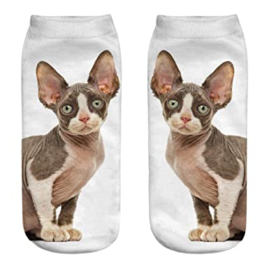 Gusspower Mujeres Chicas 3D Crazy Funny Cartoon Gatos Animales Calcetines (A): Amazon.es: Ropa y accesorios