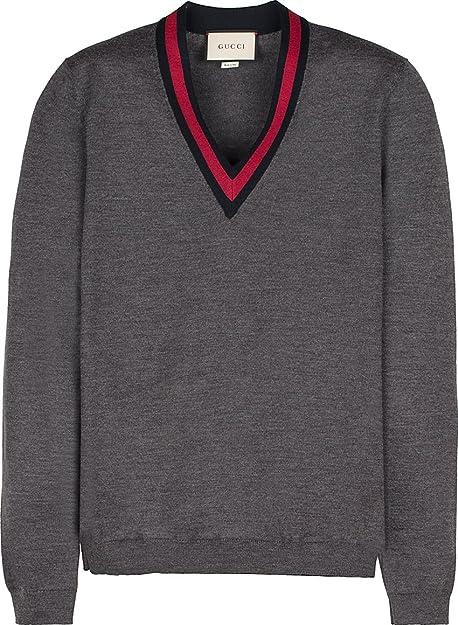 Gucci - Jerséi - para hombre, color gris, talla M IT - Marke Größe M: Amazon.es: Zapatos y complementos