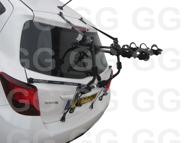 da montare sul bagagliaio o sul portellone posteriore dell/'auto per Toyota Yaris prodotte dal 2011 in poi capienza 3 bici Rastrelliera portabici