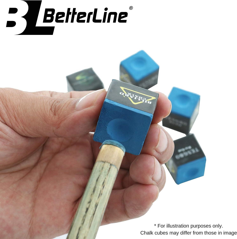 BETTERLINE Table de Billard et Rail brosses de Nettoyage avec Bonus Cue Craie Cubes et Table de Billard Spot Dot Stickers
